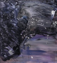 We miss each other in our dreams, acrylic on canvas, 400 x 200cm