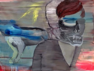 Skull of Justin Bieber, oil on canvas, 200 x 140cm