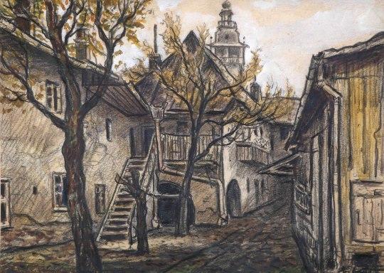 Dobrovského, kolorovaný grafit na papíře, 28 x 20 cm, 50. léta